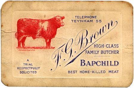 F.G.Bown Business Card