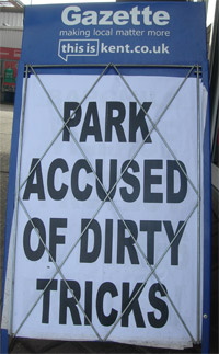 Park Accused of Dirty Tricks