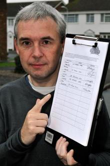 Andy Hudson with Petition